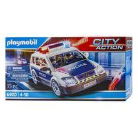 City action - voiture de police avec gyrophare et sirène