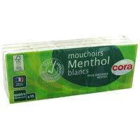 Witte menthol zakdoeken in pakjes met 4 lagen