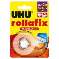 Rollafix – doorzichtig plakband 25m + 5m gratis