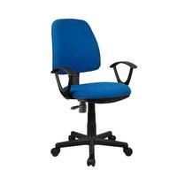 Chaise de bureau bleue avec accoudoirs