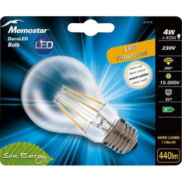 LED lamp met gloeidraad BULB 4W E27
