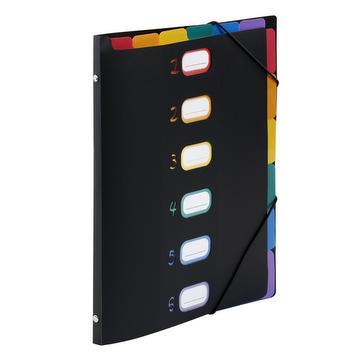 Dubbele waaiermap rainbow – 6 posities