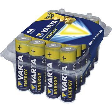 Pack de 24 piles alcalines energy LR6 AA