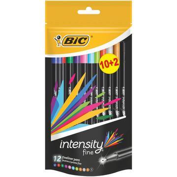 Feutres pointe fine intensity 10+2 gratis