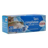 50 sacs de congélation – moyens 3L 22 x 35 cm