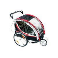 Aanhanger-buggy voor 2 kinderen