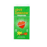 Fruities 6 préservatifs lubrifiés et parfumés