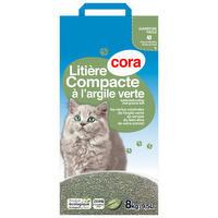 Klittende natuurlijke kattenbakvulling met groene klei