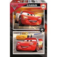 Puzzle 2 en 1 cars 3 - 2 x 48 pcs