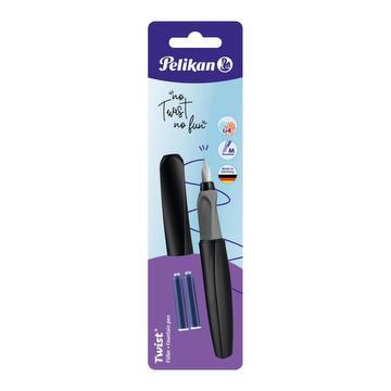 Twist vulpen – zwart + 2 inktbuisjes