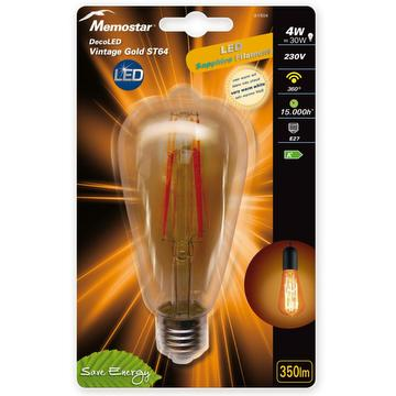 LED lamp vintage gold BULB 4W E27