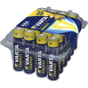 Pack de 24 piles alcalines energy LR3 AAA