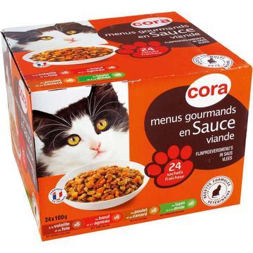 Adulte menus gourmands en sauce pour chats