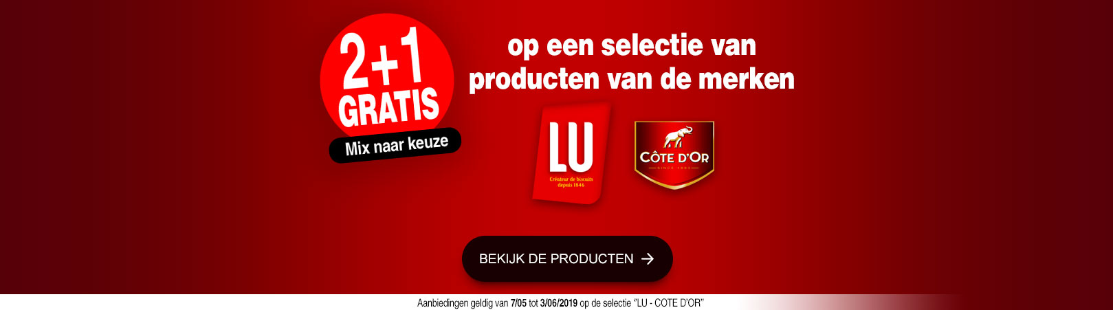 LU en COTE D'OR = 2+1 gratis
